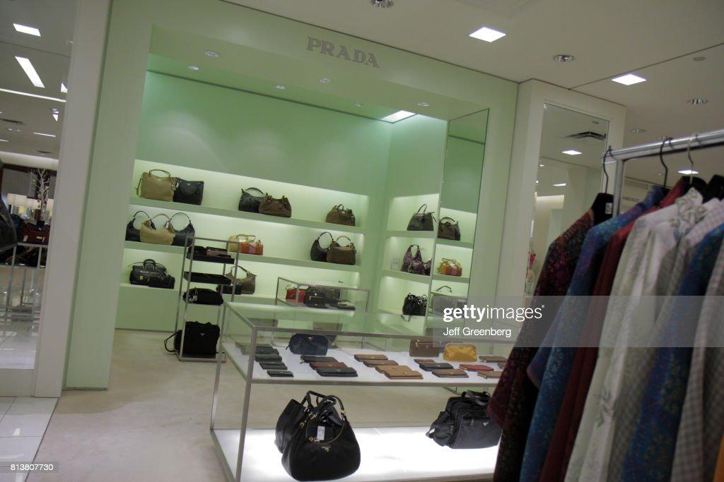 ca4efb995ab7 Prada handbags for sale at Saks Fifth Avenue. News Photo | Getty Images