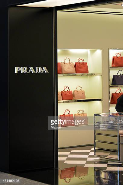 prada - prada purse stock pictures, royalty-free photos & images