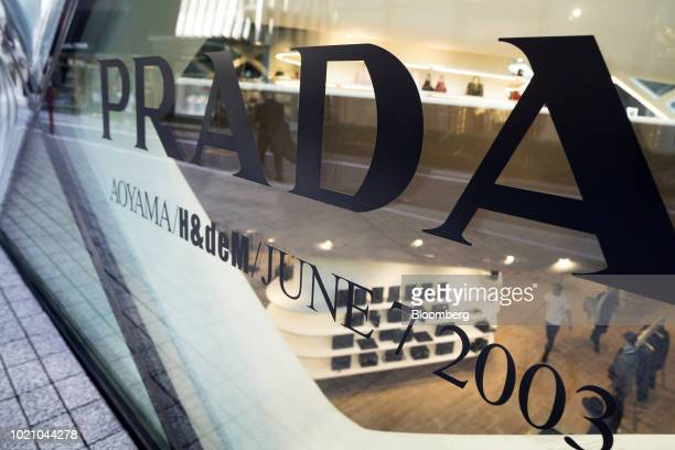 A Prada SpA store stands in the Omotesando area of Tokyo Japan on Tuesday Aug 21 2018 Japan is scheduled to release February's Consumer Price Index...