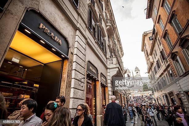 Prada store in Via dei Condotti, center of Rome