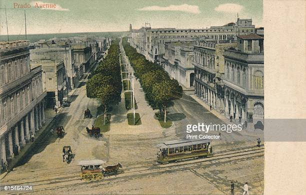 Prado Avenue', 1907. [Wilson's Obispo, Havana, Cuba, 1907]. Artist Unknown