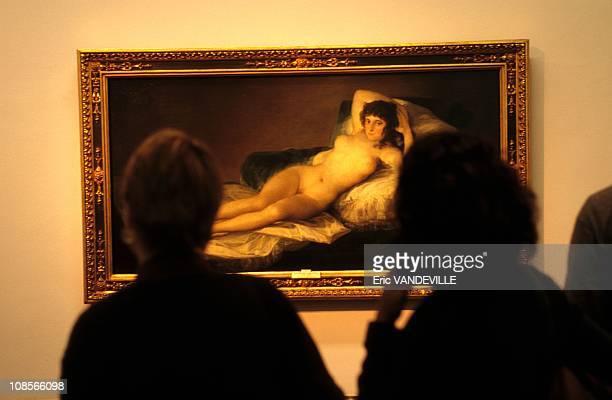 Prado Museum Maya Desnuda by Goya in Madrid Spain in April 1998