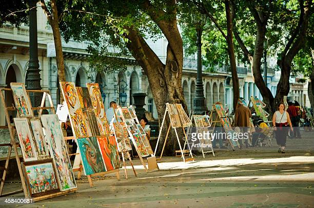 prado street, havana - painting art product stock pictures, royalty-free photos & images