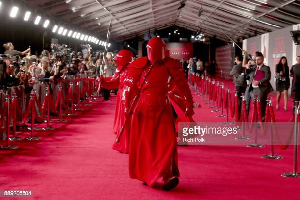 Praetorian Guard at the world premiere of Lucasfilm's Star Wars The Last Jedi at The Shrine Auditorium on December 9 2017 in Los Angeles California
