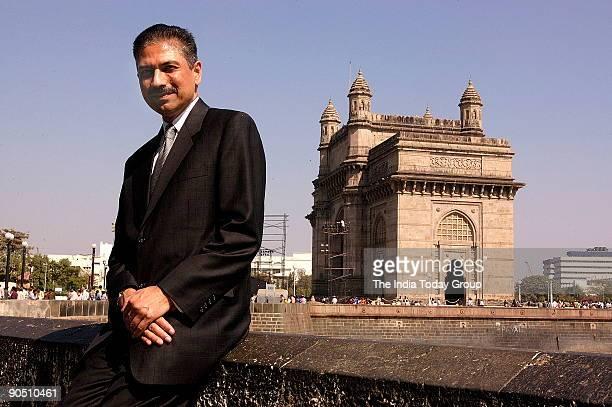 Praful M Kulkarni AIA President and CEO Gkkworks poses at Gateway of India in Mumbai India Potrait Sitting