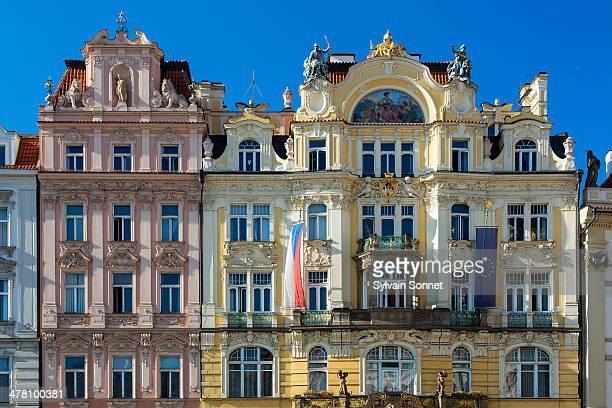 Prague, Art Nouveau buildings lining the Old Town
