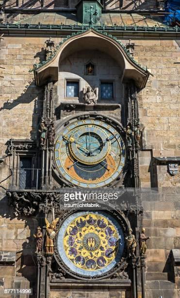 prague astronomical clock - astronomical clock stock pictures, royalty-free photos & images