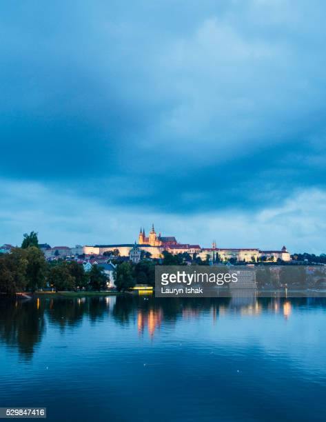 prague at dusk - lauryn ishak stock pictures, royalty-free photos & images