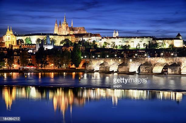 Prague castle at nigth