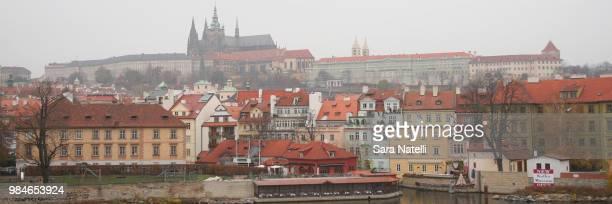Prague Castle in Fog