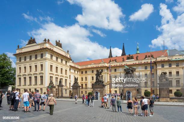 prague castle - hradcany castle stock pictures, royalty-free photos & images