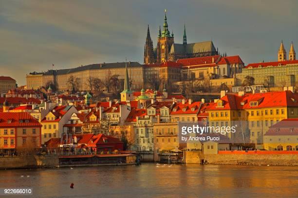 prague castle, prague, czech republic - vltava river stock pictures, royalty-free photos & images