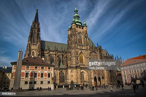 prague cathedral - hradcany castle stock pictures, royalty-free photos & images