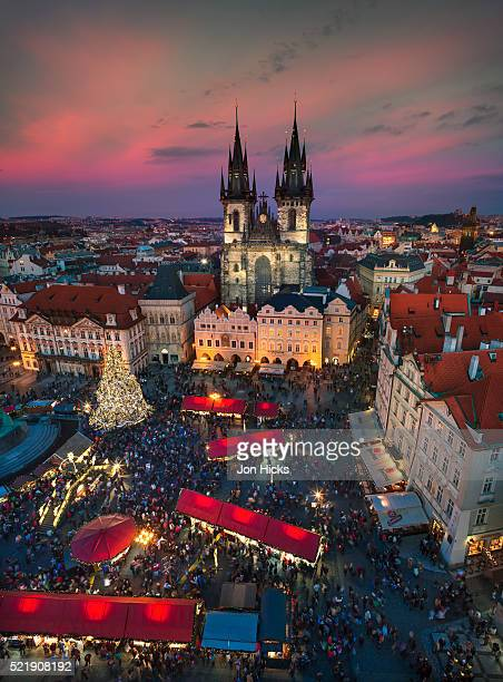 Prague Christmas Market in Old Town Square.