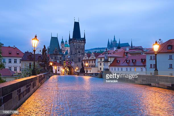 prague, czech republic - charles bridge stock photos and pictures
