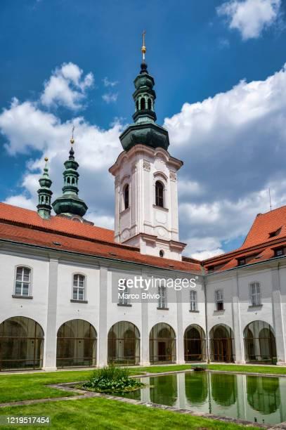 prague czech republic. strahov monastery - marco brivio stock pictures, royalty-free photos & images
