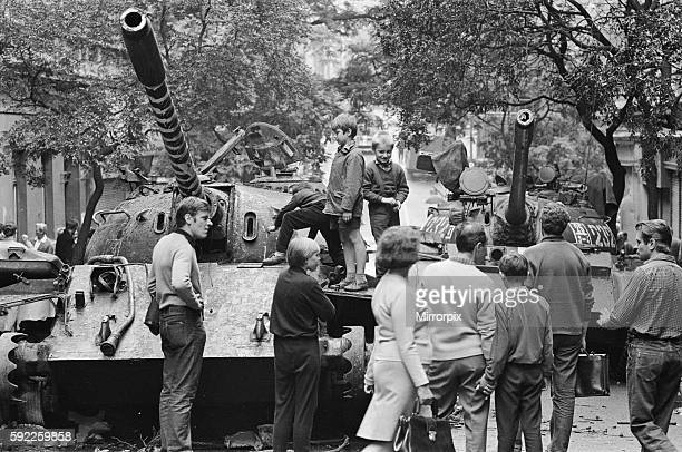 Prague, Czechoslovakia. End of the Prague Spring, a period of political liberalization in Czechoslovakia during the era of its domination by the...