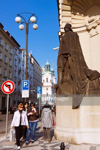 prague golem statue - dafos stock photos and pictures
