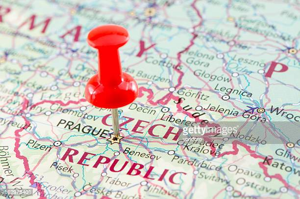 prague map - bohemia czech republic stock pictures, royalty-free photos & images