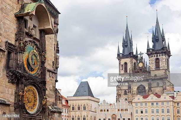 prague old town - astronomical clock prague stock pictures, royalty-free photos & images