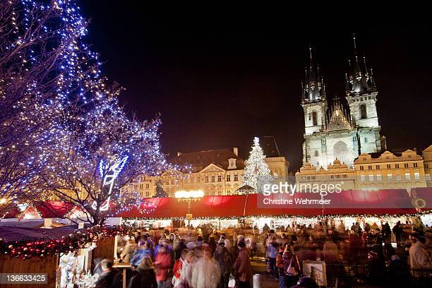 prague old town square - christine wehrmeier stock photos and pictures