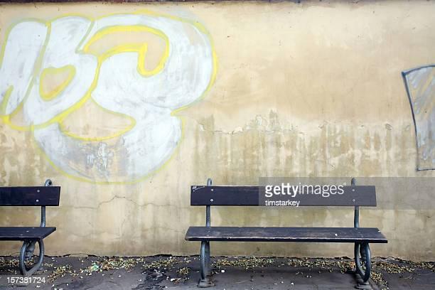 Prag park bench