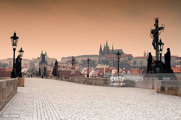 prague - charles bridge stock photos and pictures