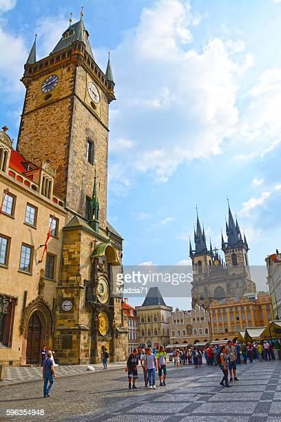 prague - astronomical clock prague stock pictures, royalty-free photos & images