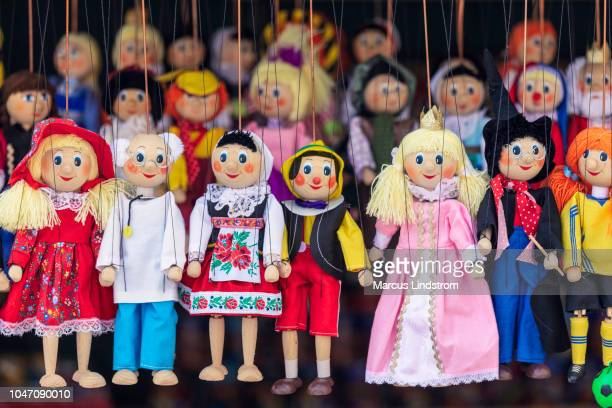 prague puppets - puppet stock pictures, royalty-free photos & images