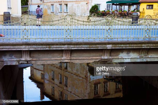 prague reflections - dafos stock photos and pictures