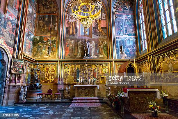 prague, st. vitus cathedral - st vitus's cathedral stock pictures, royalty-free photos & images