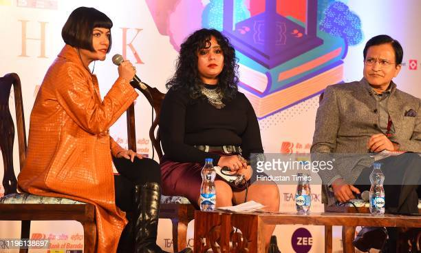 Pragya Tiwari, Yashica Dutt and Raghav Chandra in conversation during Kalis Daughter: Coming out as a Dalit session on the third day of Zee Jaipur...