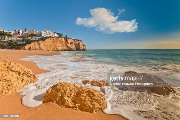 praia carvoeiro - faro stock pictures, royalty-free photos & images