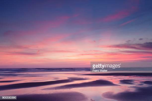 Praia da Borderia beach at sunset, Carrapateira, Costa Vicentina, West coast, Algarve, Portugal