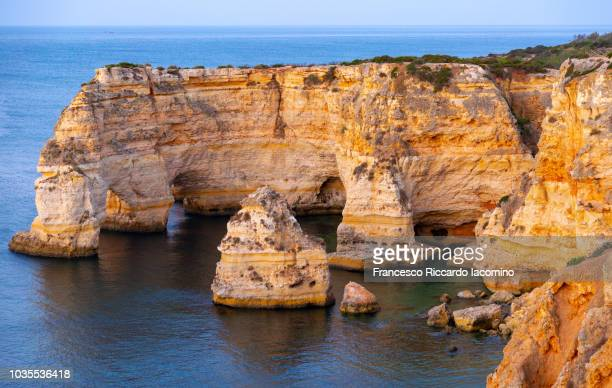 Praia da Marinha at sunrise, Algarve, Portugal