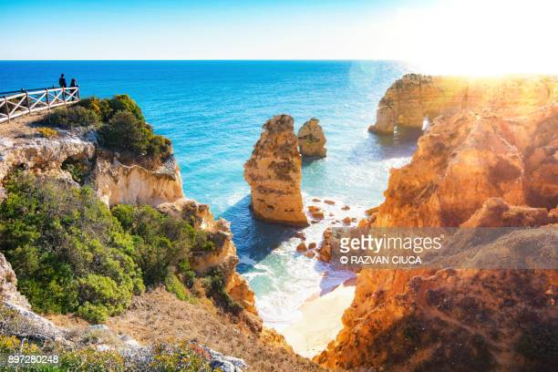 praia da marinha - algarve stock photos and pictures