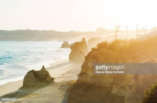 praia da rocha, algarve, portugal - portimao stock photos and pictures