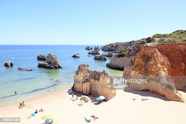 praia da rocha - lagos portugal stock photos and pictures