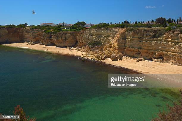 Praia da Senhora da Rocha, Nossa Senhora da Rocha Beach, Armaao de Pera, Algarve, Portugal.