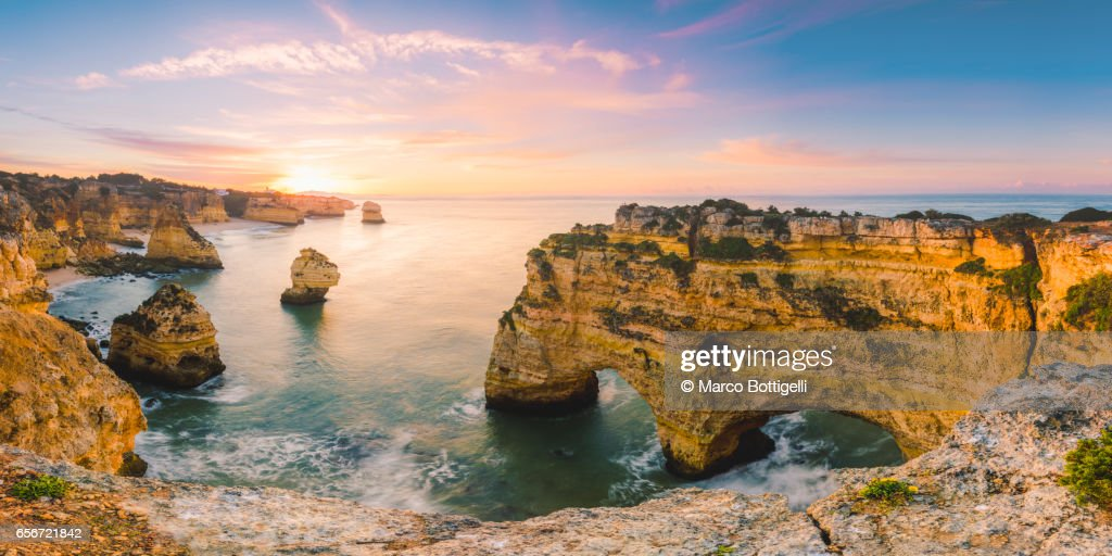 Praia de Marinha, Portugal. : Stock Photo