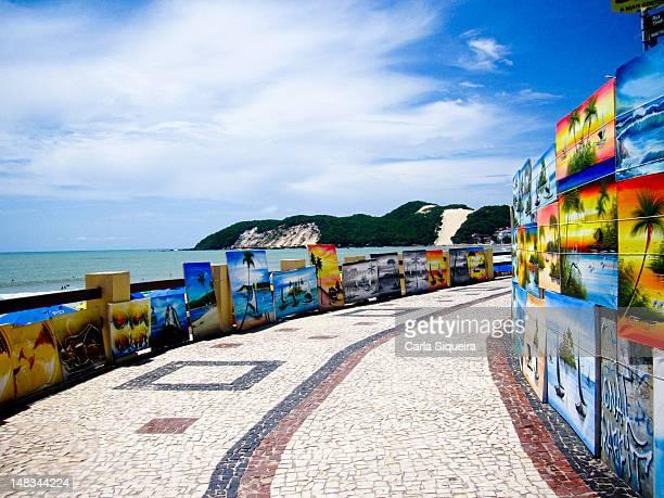 praia de ponta negra - natal brazil stock pictures, royalty-free photos & images