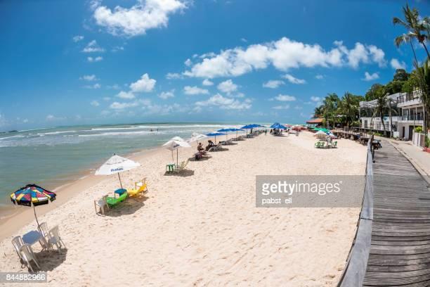 Praia do Amor Beach in Pipa sunny day vacations