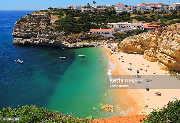 praia do benagil, lagoa - algarve stock photos and pictures