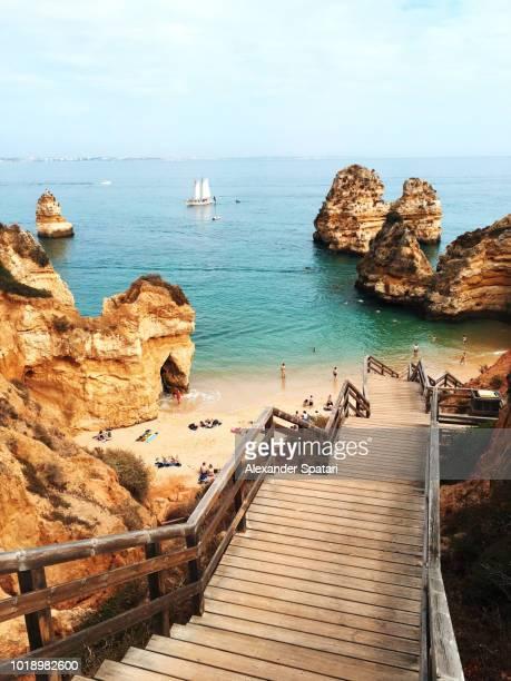 Praia do Camilo beach in Algarve, Portugal