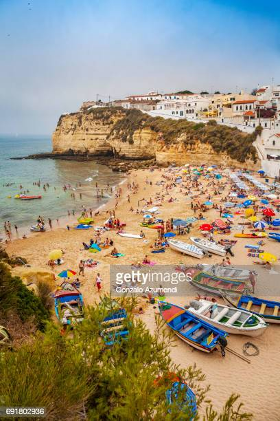 praia do carvoeiro beach in algarve - portugal stock pictures, royalty-free photos & images