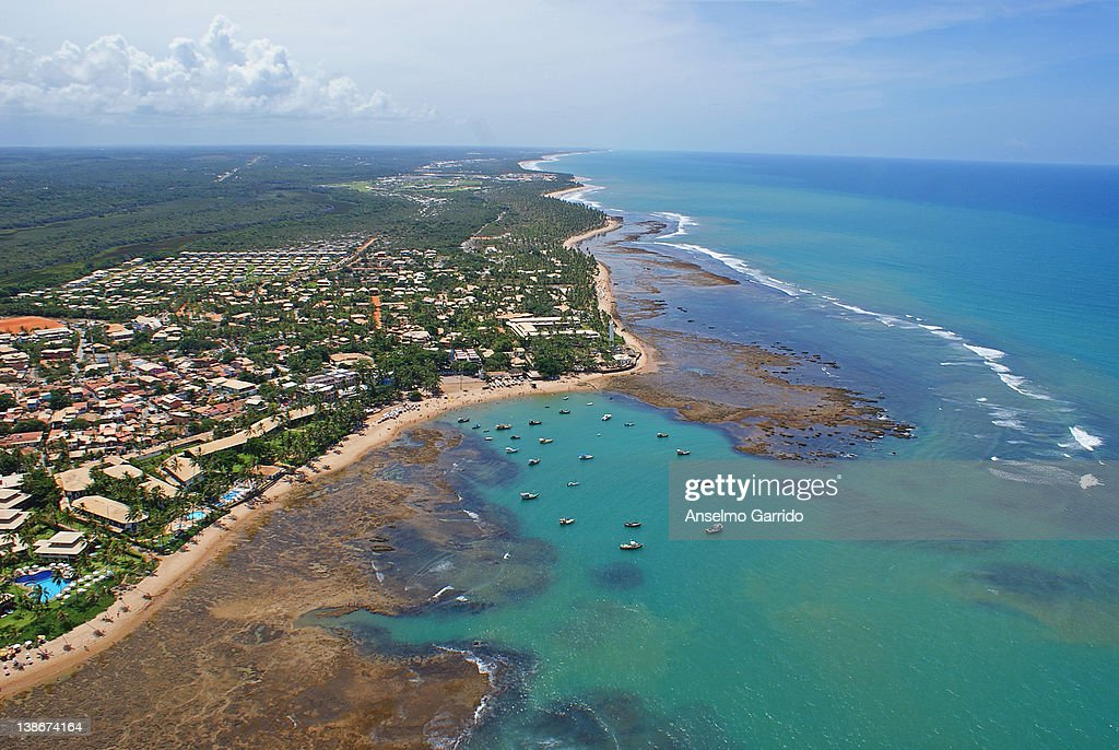 Praia do Forte - aerial photo : Bildbanksbilder