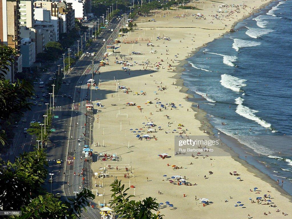 Praia do Leblon - Leblon´s beach : Foto de stock