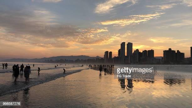 プライア ・ グランデ ・ ビーチ、サンパウロ、ブラジル - 携帯から写真 - サントス ストックフォトと画像
