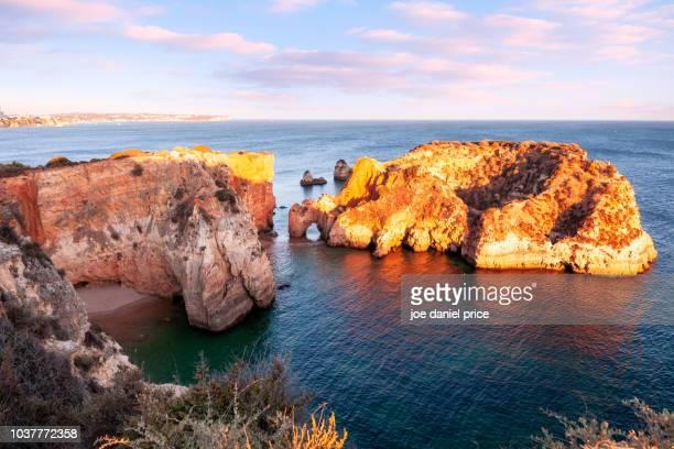 praia joão de arens, alvor, algarve, portugal - alvor stock pictures, royalty-free photos & images