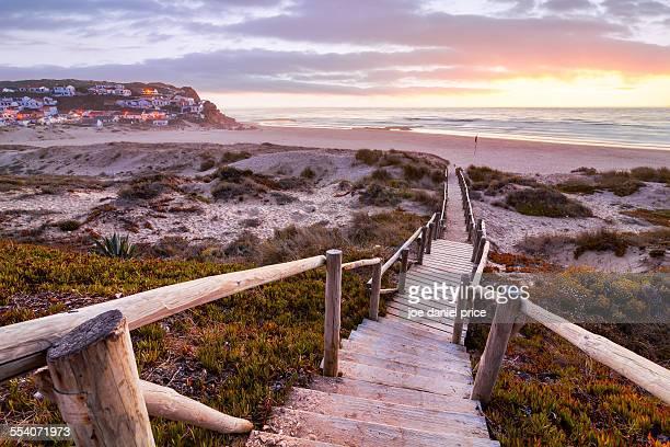 Praia Monte Clerigo Beach, West Coast, Algarve, Po